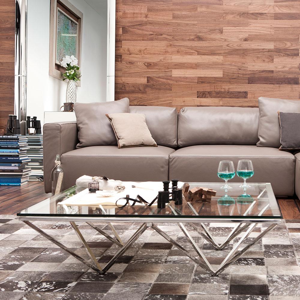 ネットワーク 105x105cm ローテーブル/コーヒーテーブル