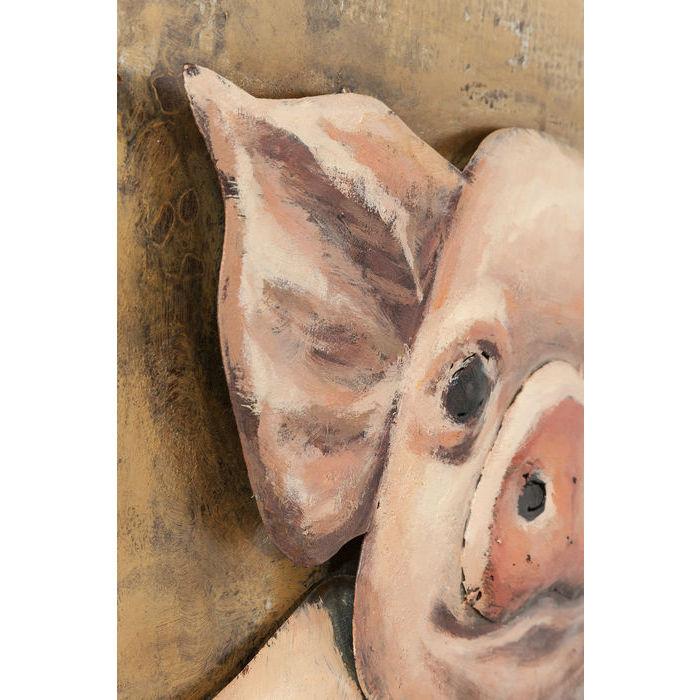 Picture Iron Piggy 80x80cm