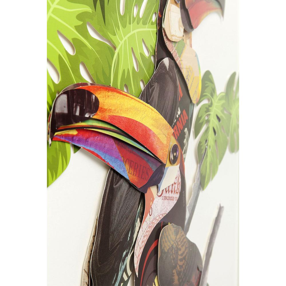 パラダイスバードカップル 70x50cm ピクチャーフレームアート
