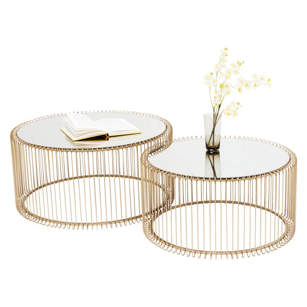 ワイヤーブラス (2/Set) ローテーブル/コーヒーテーブル