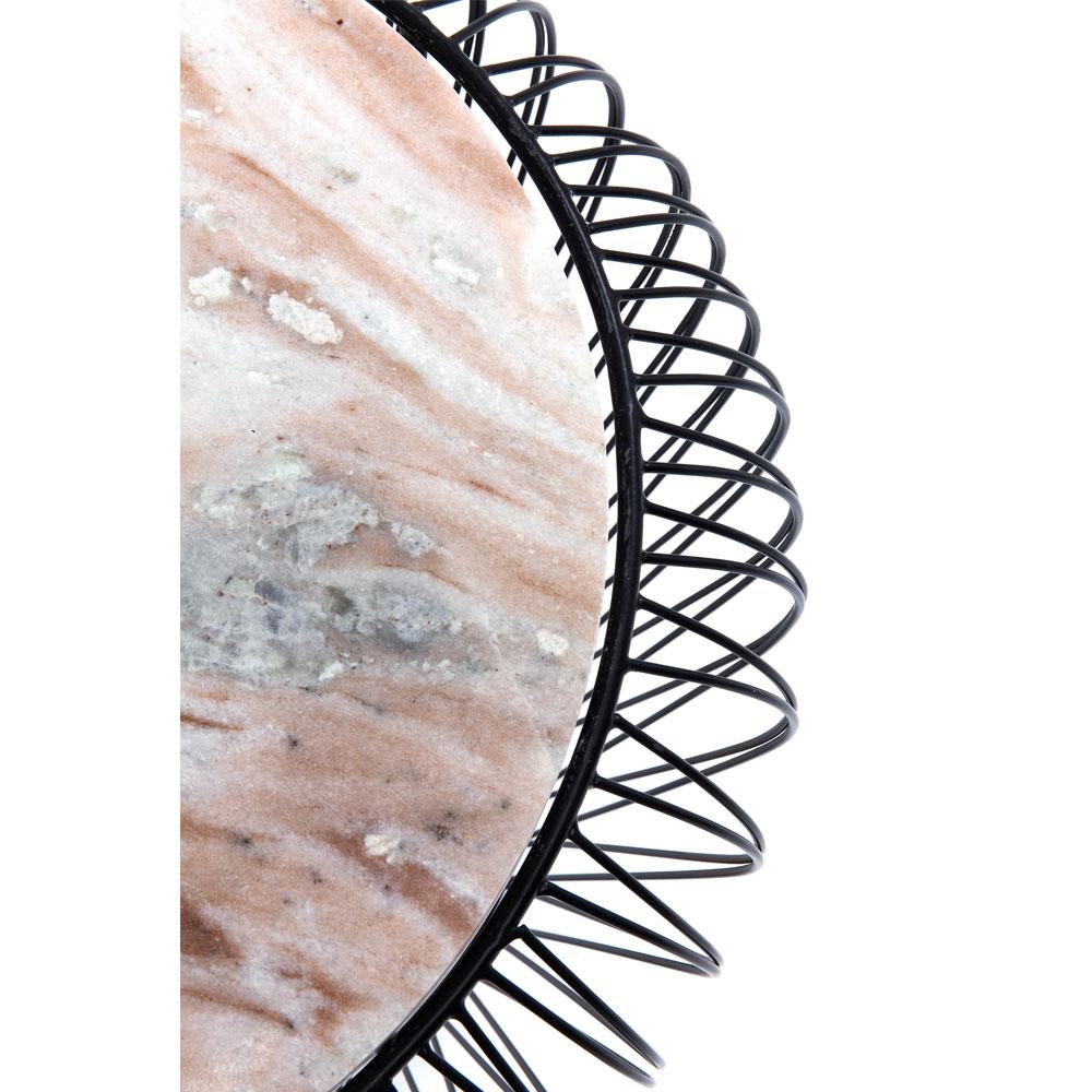 ビーム グレー マーブルブラック O43cm サイドテーブル