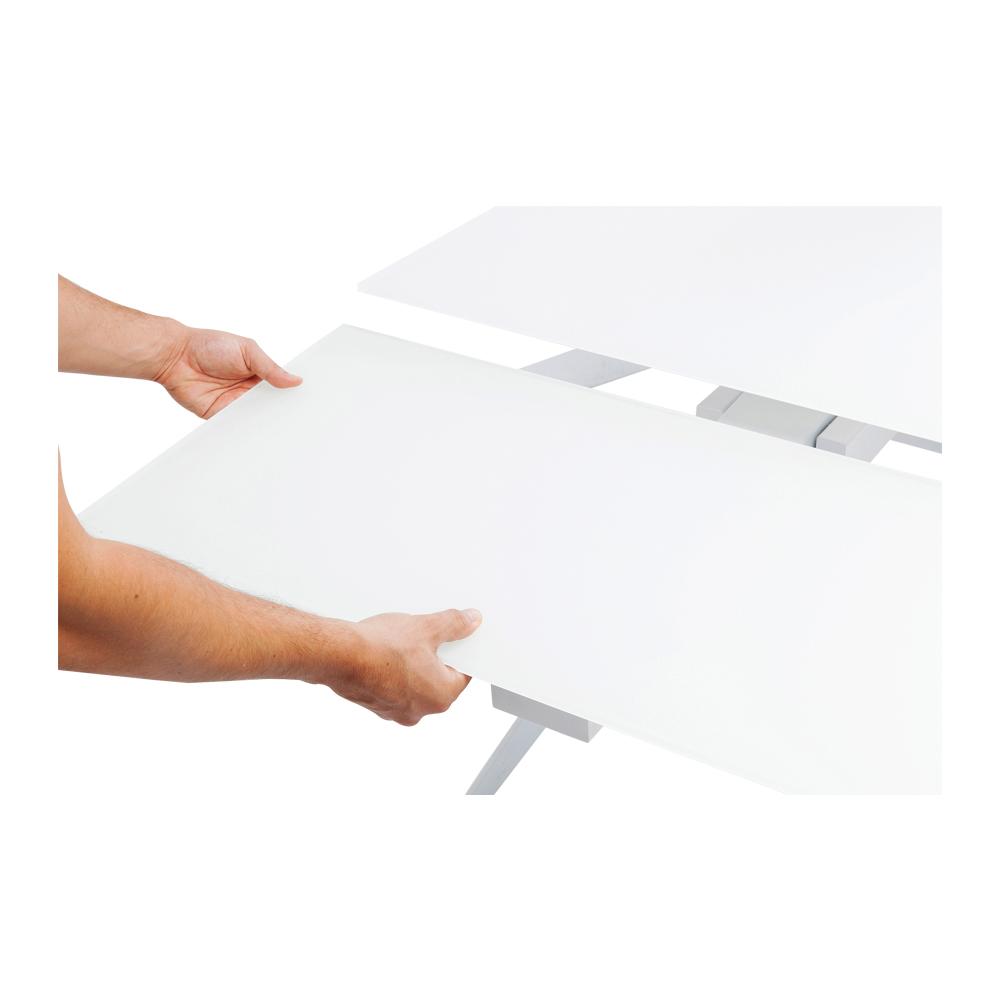 アムステルダムホワイト 160(40+40)x90cm エクステンションテーブル
