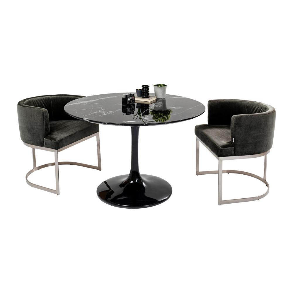 ソロ マーブル ブラック O 110cm テーブル