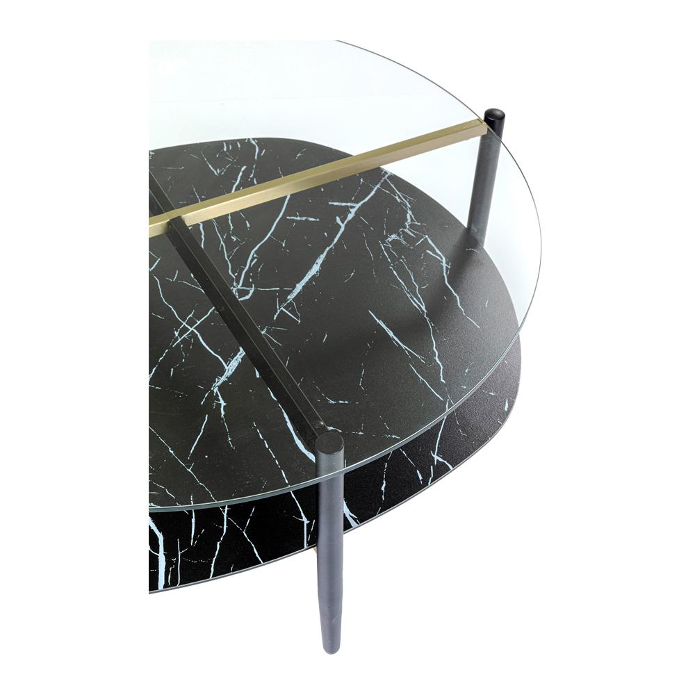 ノブレス オーバル 97x91cm コーヒーテーブル