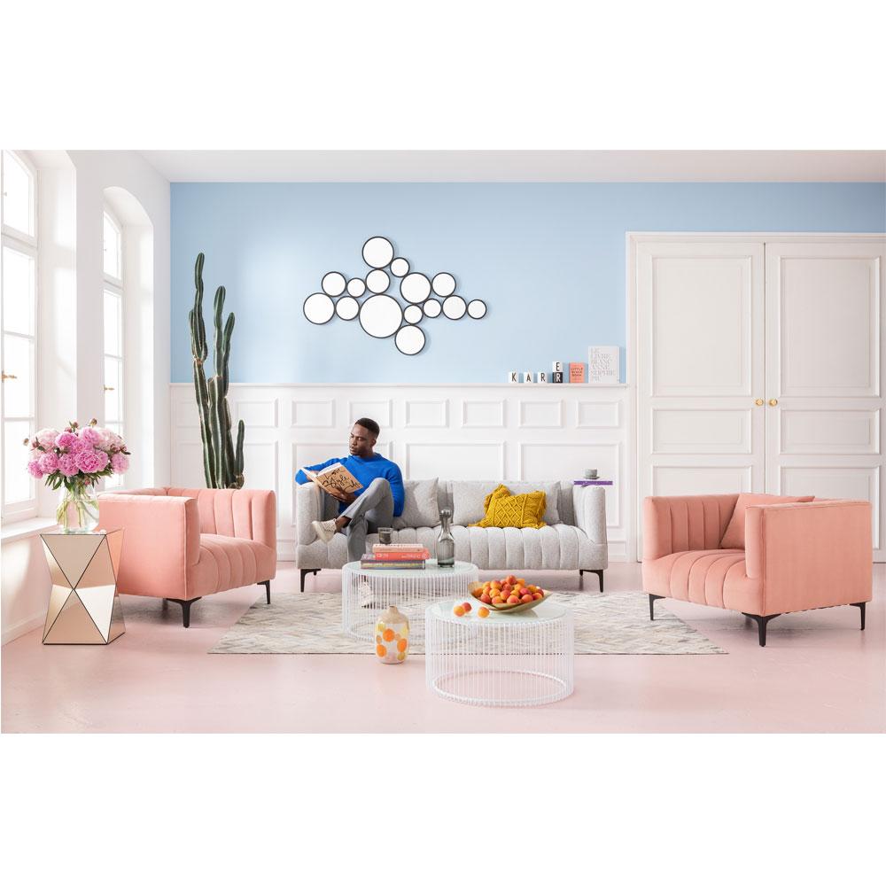 ワイヤーホワイト (2/Set) ローテーブル/コーヒーテーブル