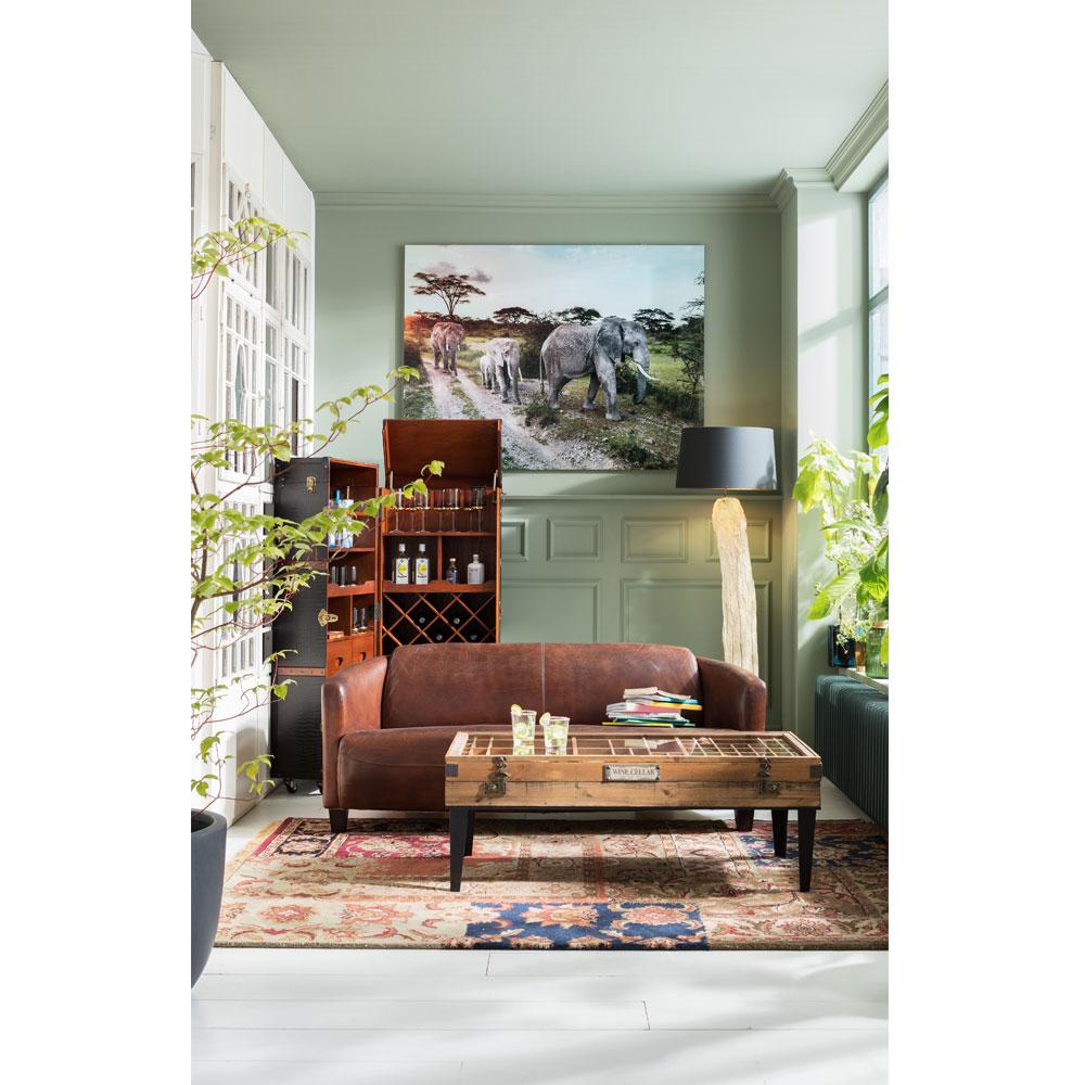 コレクター 122x55cm ローテーブル/リビングテーブル