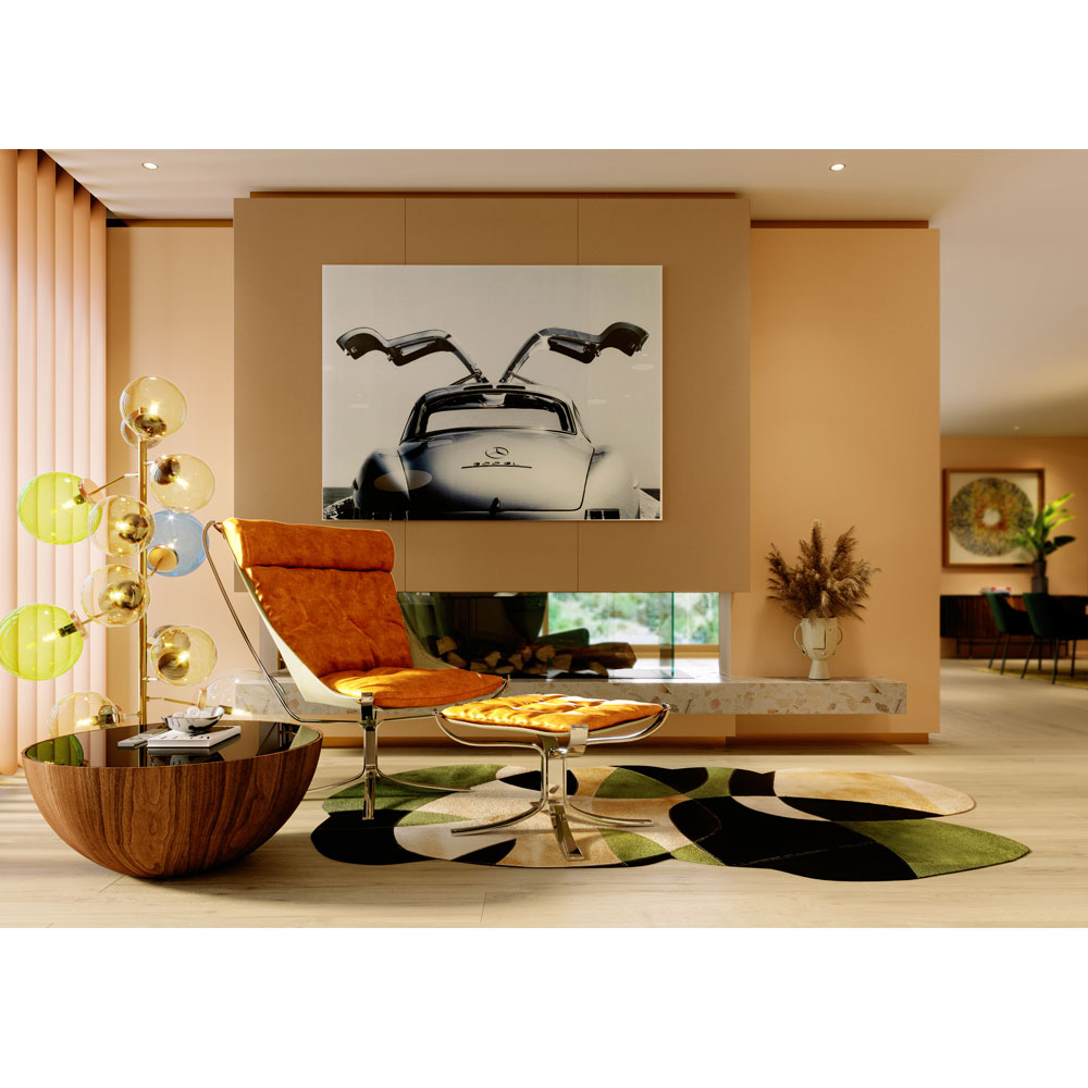 ティアドロップウォルナット O80cm ローテーブル/コーヒーテーブル