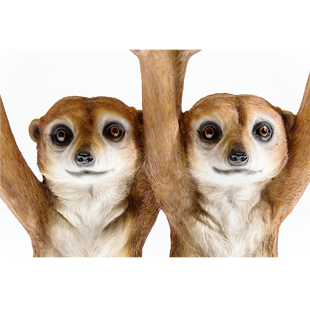 【入荷待ち商品】Side Table Animal Meerkat Sisters Ø33cm
