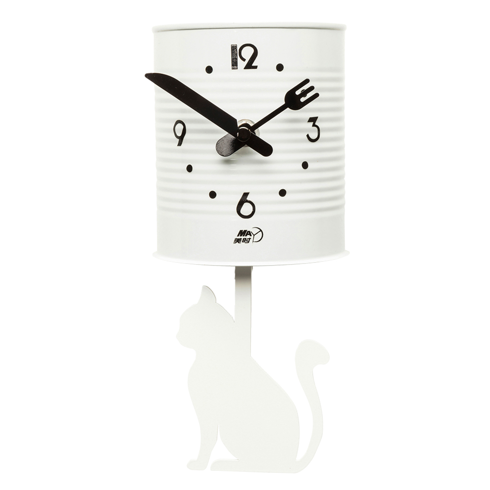 Wall Clock Tin Cat
