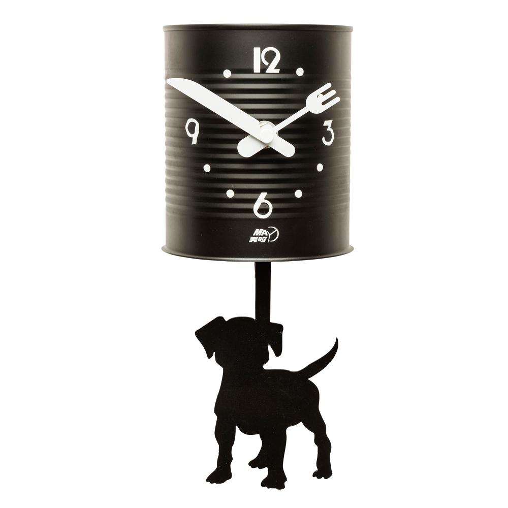 Wall Clock Tin Dog