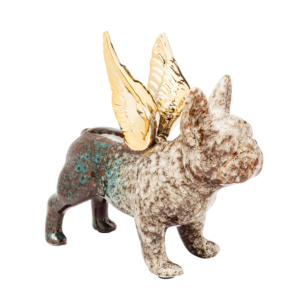Deco Figurine Angel Wings Dog A/BL