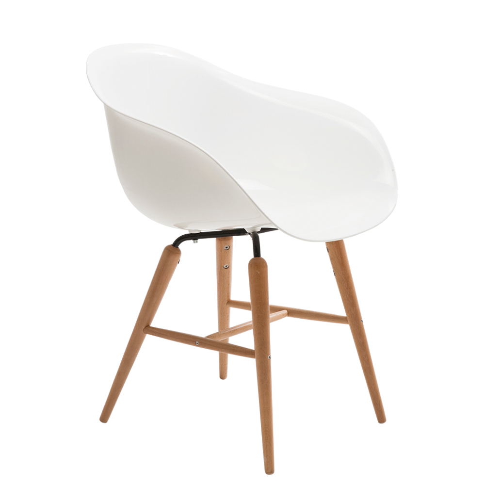 Chair with Armrest Forum Wood White