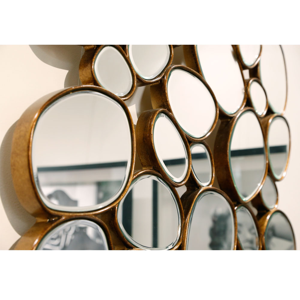Mirror Water Drops Copper 135x78cm
