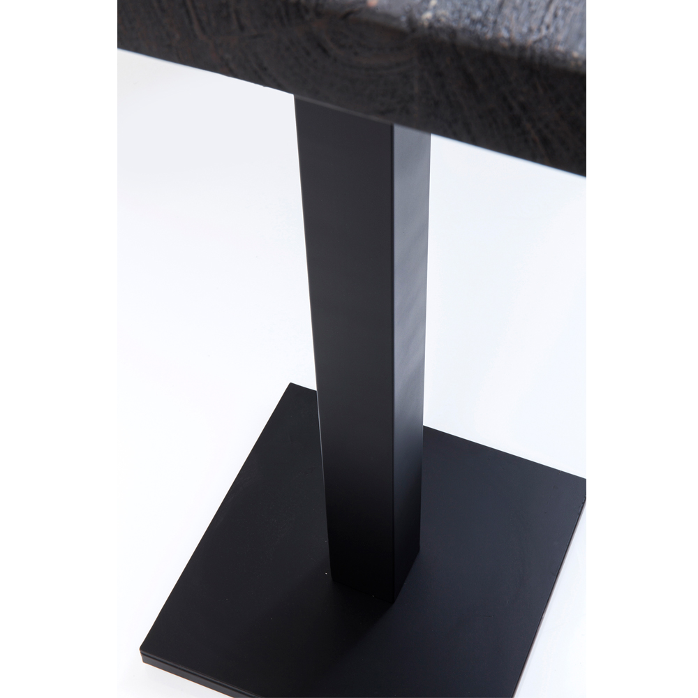 Bar Table Pure Nature Black Central Base 70x70cm