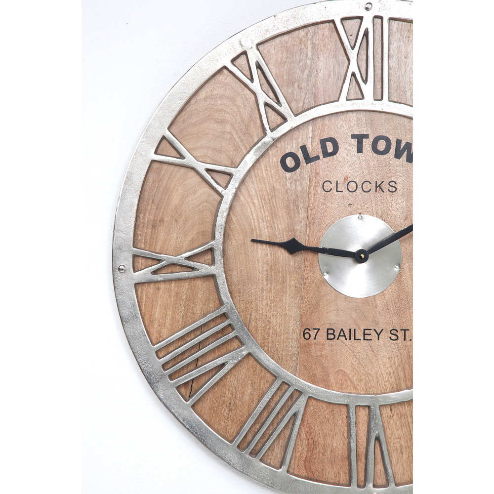 Wall Clock Old Town Wood