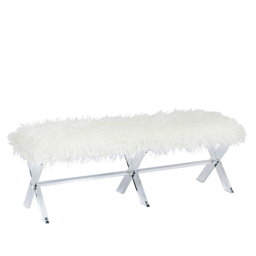 Bench Visible Fur White