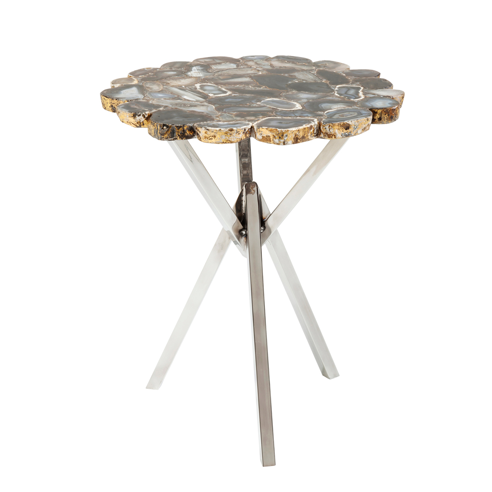 トレジャリーグレイ Ø40cm サイドテーブル