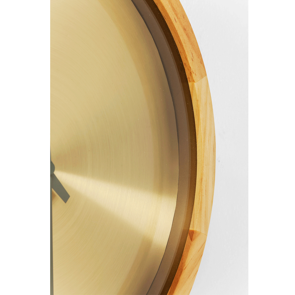 Wall Clock Edge Gold Ø29cm