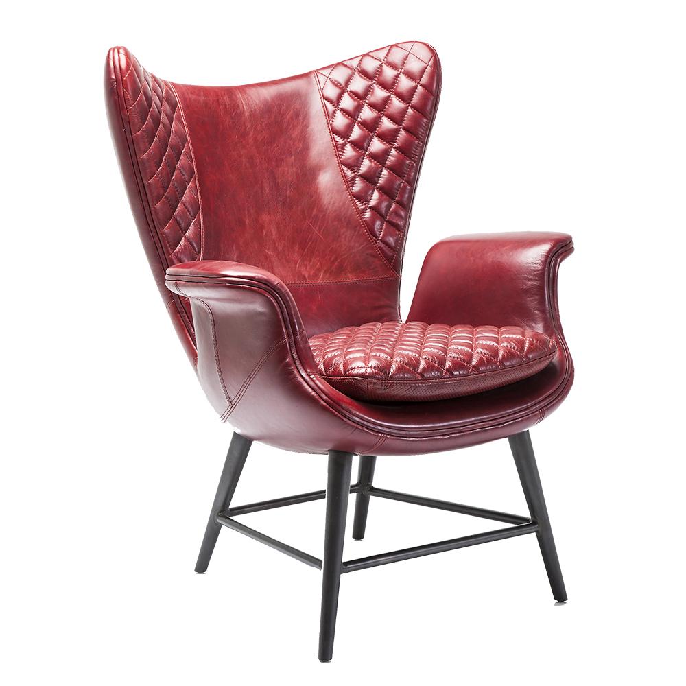 Arm Chair Tudor Red Leather
