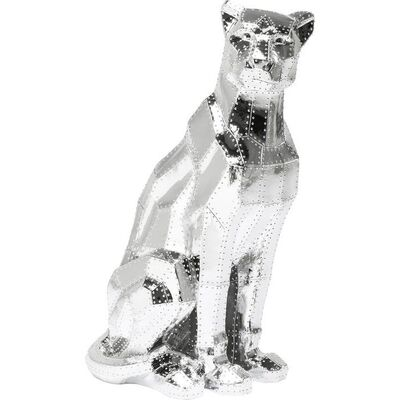 【入荷待ち商品】Deco Figurine Sitting Cat Rivet Chrome