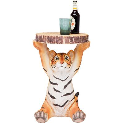 【入荷待ち商品】Side Table Animal Tiger Ø35cm