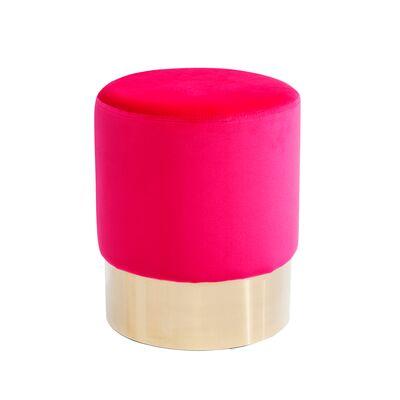 Stool Cherry Pink Brass Ø35cm