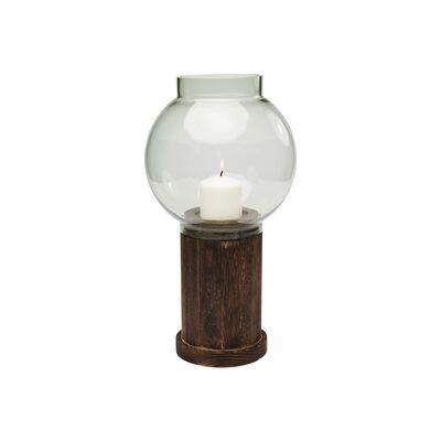 Lantern Podium Green 24cm