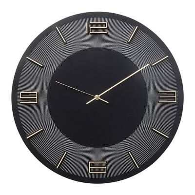 Wall Clock Leonardo Black/Gold