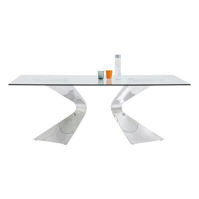 グロリア クロム 200x100cm ダイニングテーブル