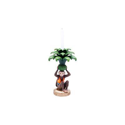 Candle Holder Monkey Palm