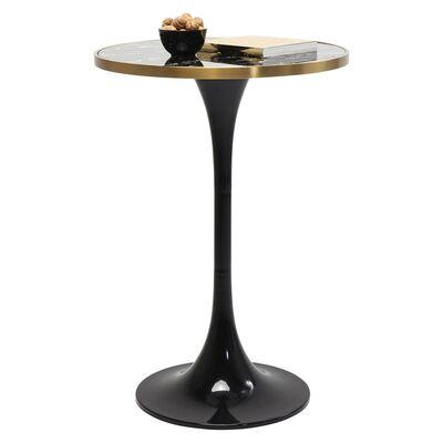 サンレモブラック ラウンド 100x70cm バーテーブル/サイドテーブル
