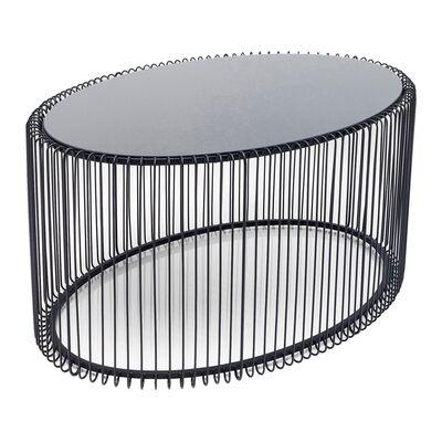 ワイヤーウーノブラック60x90cm リビングテーブル/コーヒーテーブル