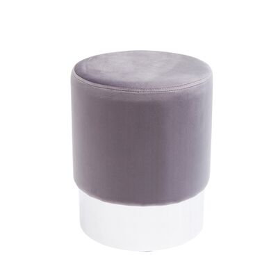 Stool Cherry Light Grey Silver Ø35cm