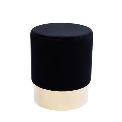 Stool Cherry Black Brass Ø35cm